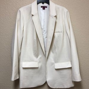 Ivory one button blazer